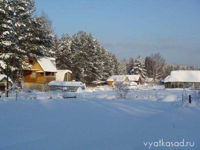 Дачный поселок зимой